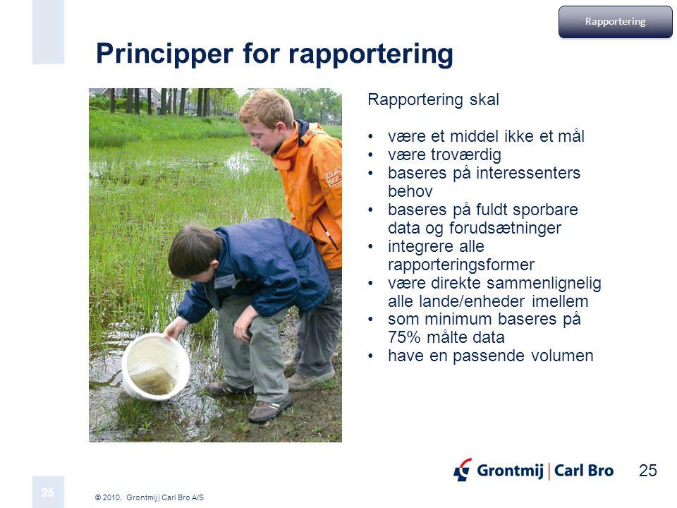 Principper for rapportering