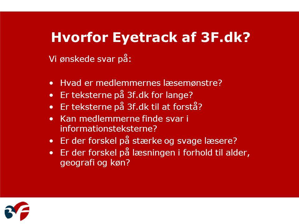 Hvorfor Eyetrack af 3F.dk