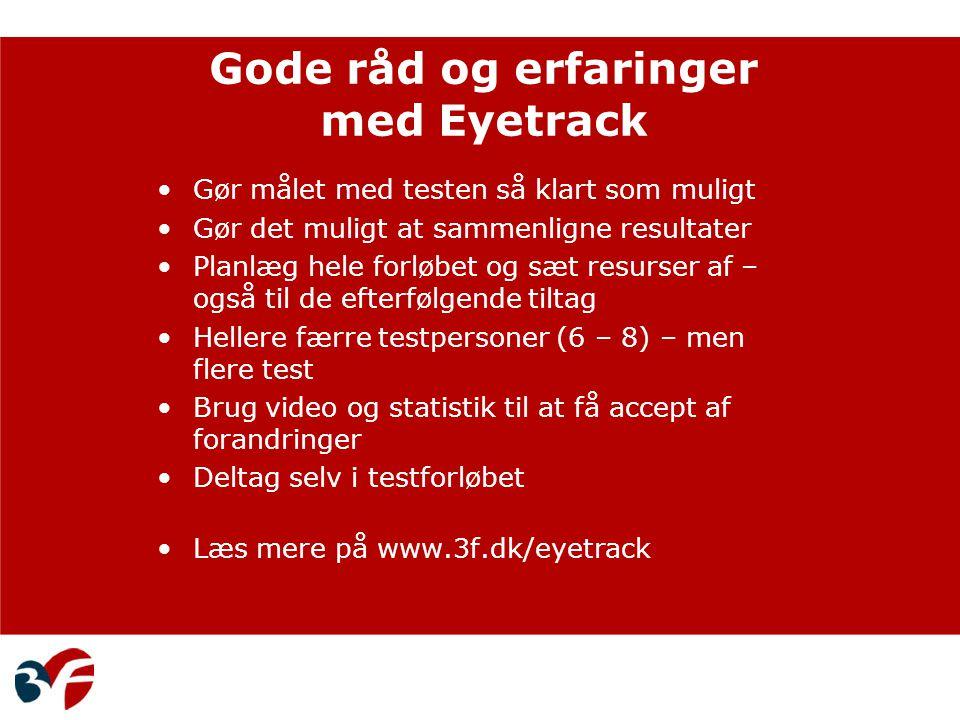 Gode råd og erfaringer med Eyetrack