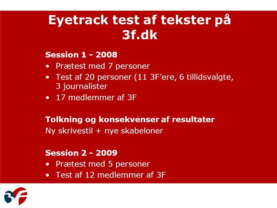 Eyetrack test af tekster på 3f.dk