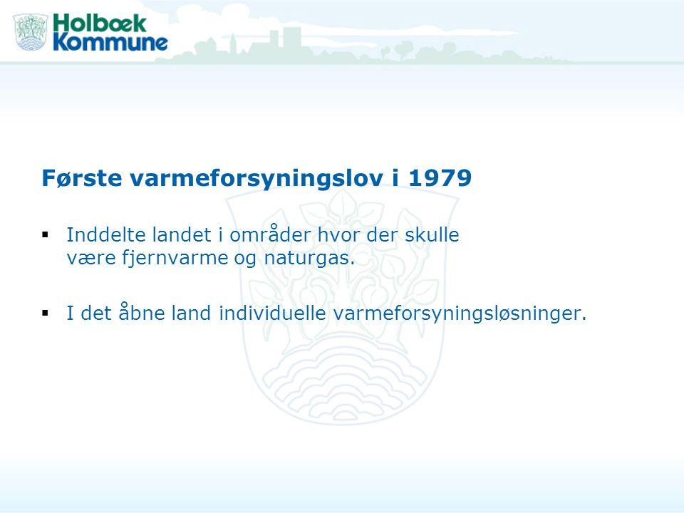 Første varmeforsyningslov i 1979