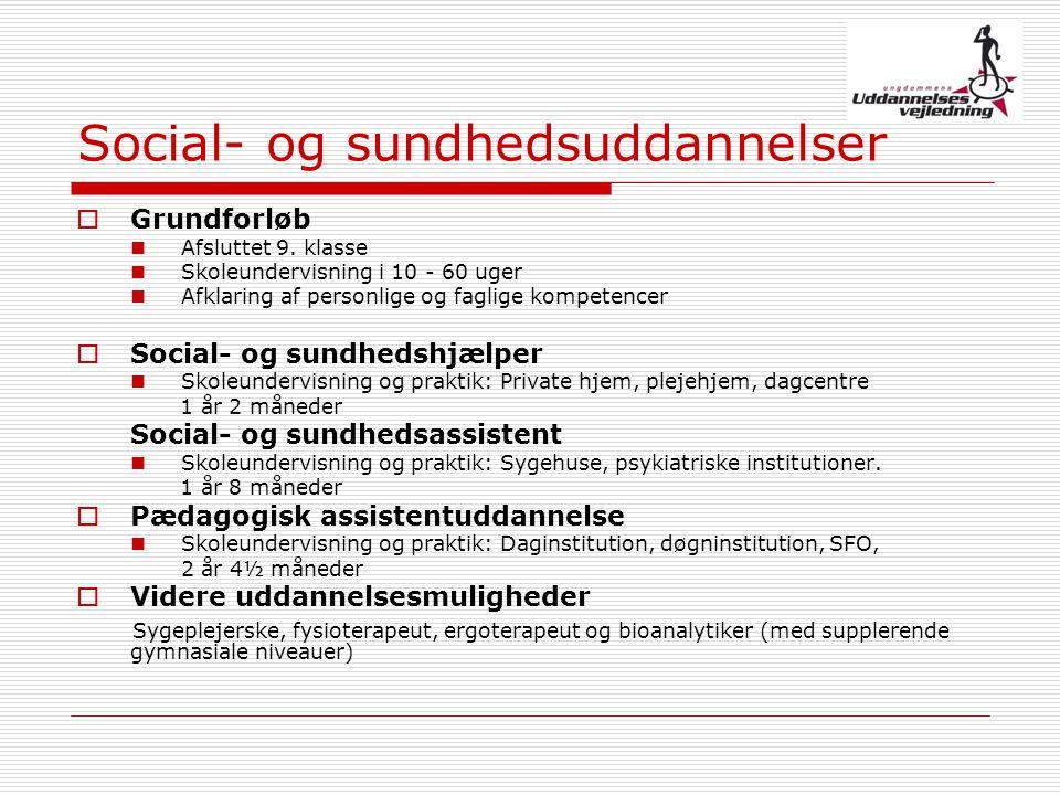 Social- og sundhedsuddannelser