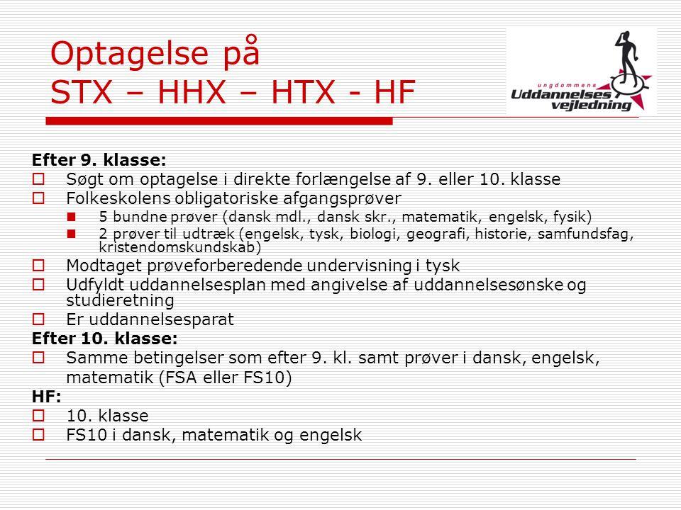 Optagelse på STX – HHX – HTX - HF