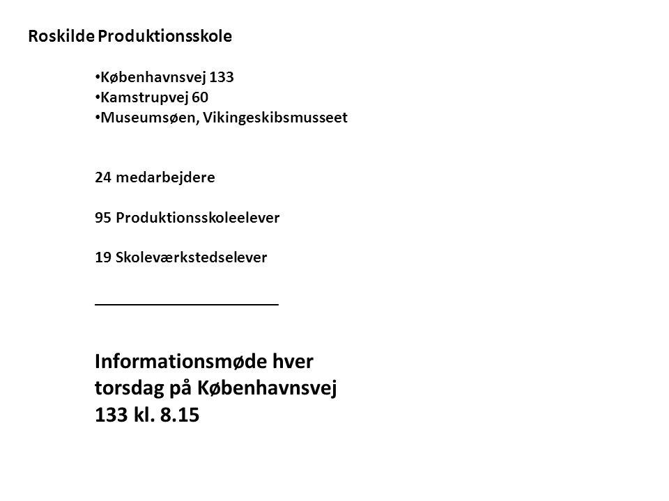 Informationsmøde hver torsdag på Københavnsvej 133 kl. 8.15