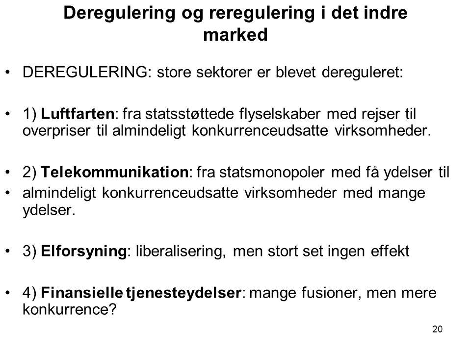 Deregulering og reregulering i det indre marked