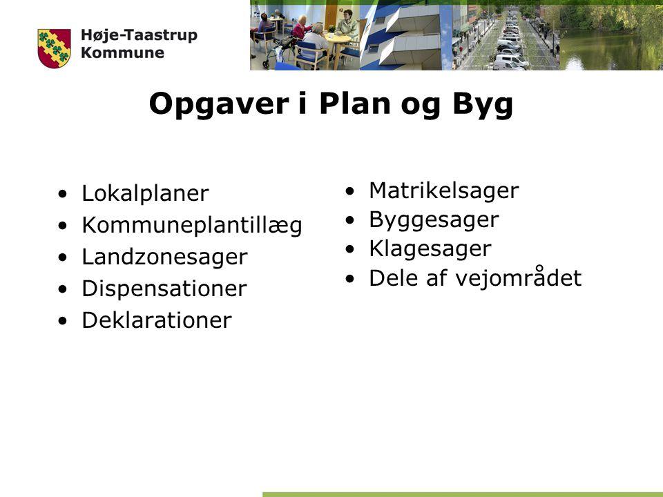 Opgaver i Plan og Byg Lokalplaner Matrikelsager Kommuneplantillæg