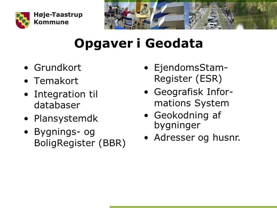 Opgaver i Geodata Grundkort Temakort Integration til databaser
