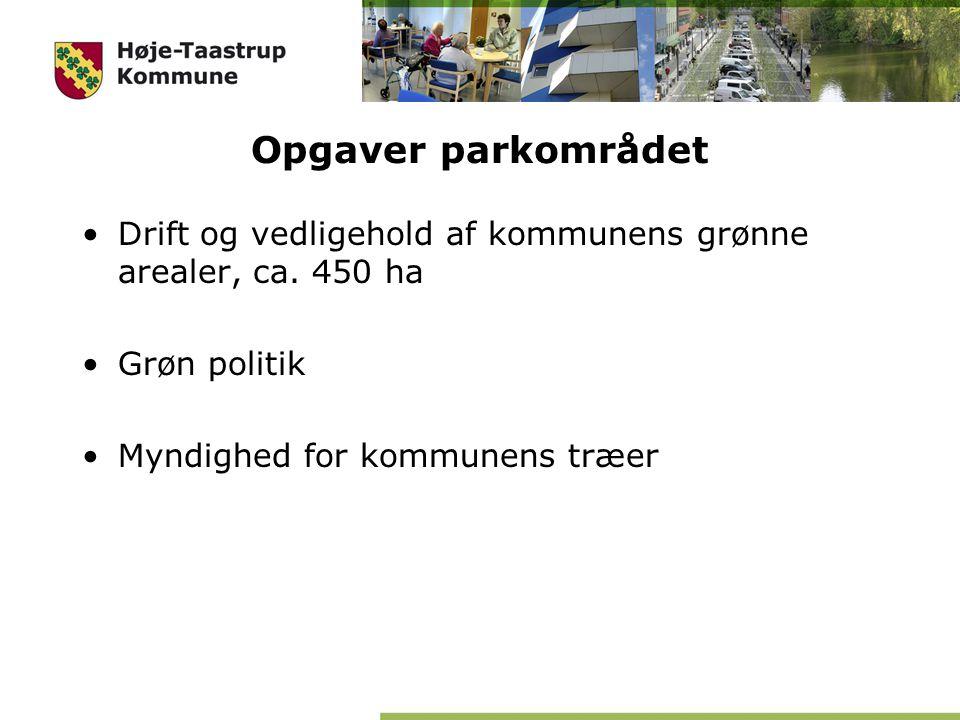 Opgaver parkområdet Drift og vedligehold af kommunens grønne arealer, ca.