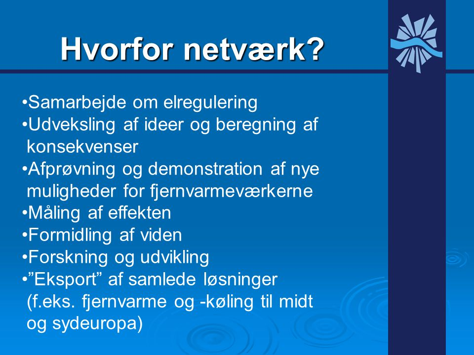 Hvorfor netværk Samarbejde om elregulering