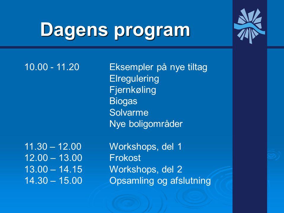 Dagens program 10.00 - 11.20 Eksempler på nye tiltag Elregulering