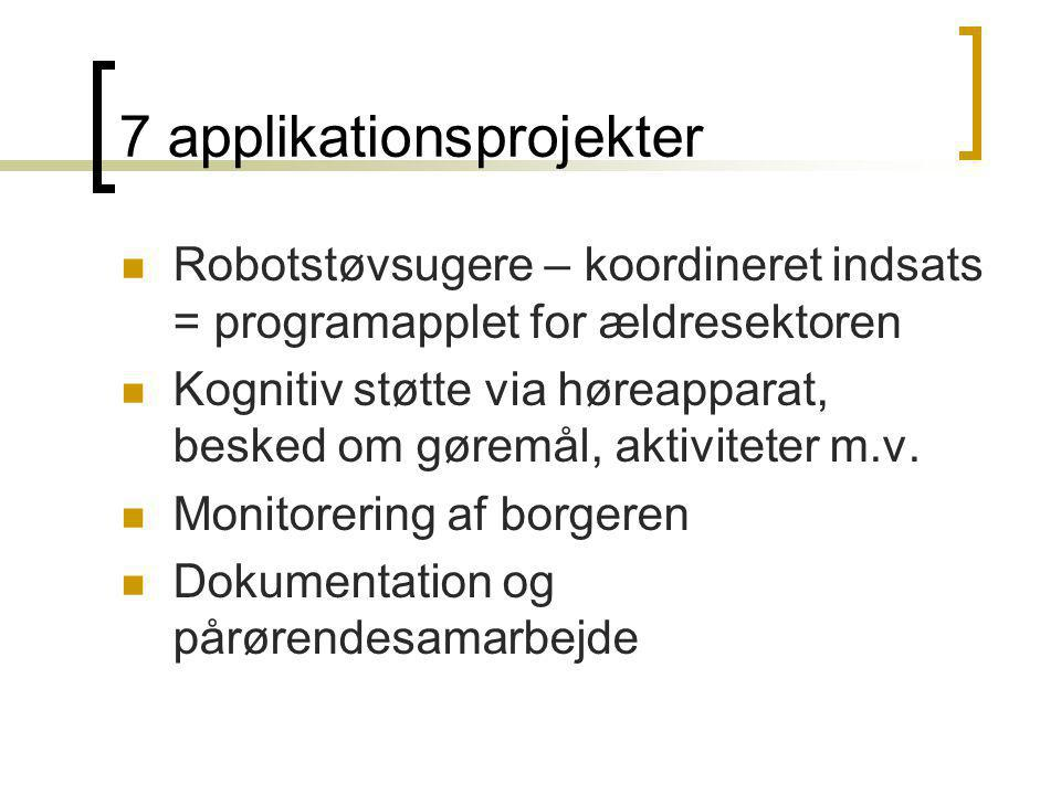 7 applikationsprojekter