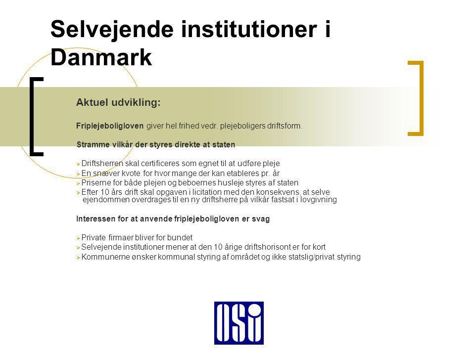 Selvejende institutioner i Danmark