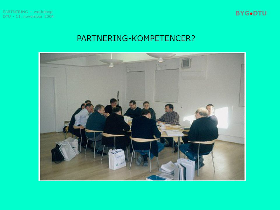 PARTNERING-KOMPETENCER