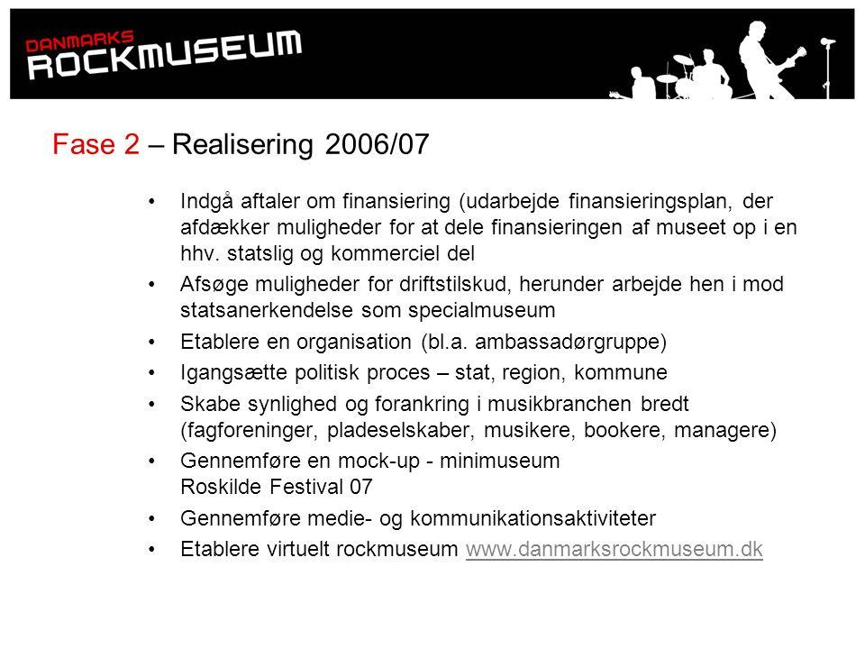 Fase 2 – Realisering 2006/07