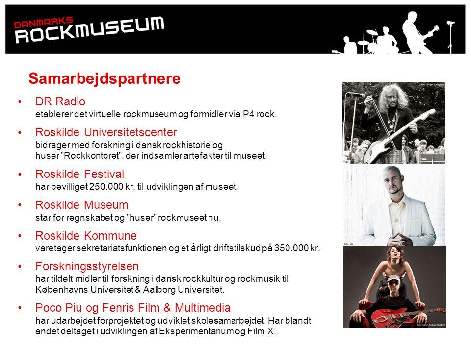 Samarbejdspartnere DR Radio etablerer det virtuelle rockmuseum og formidler via P4 rock.