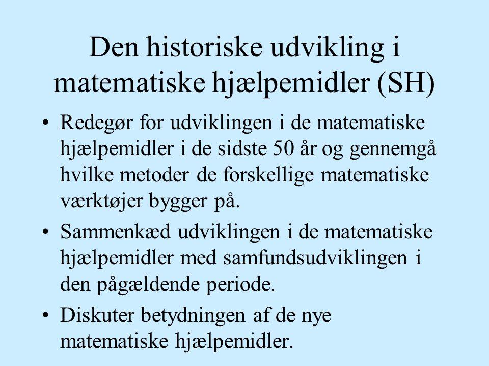 Den historiske udvikling i matematiske hjælpemidler (SH)