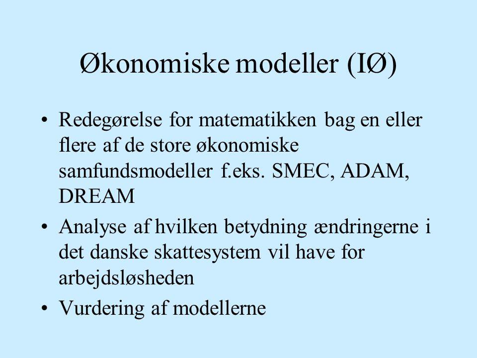 Økonomiske modeller (IØ)