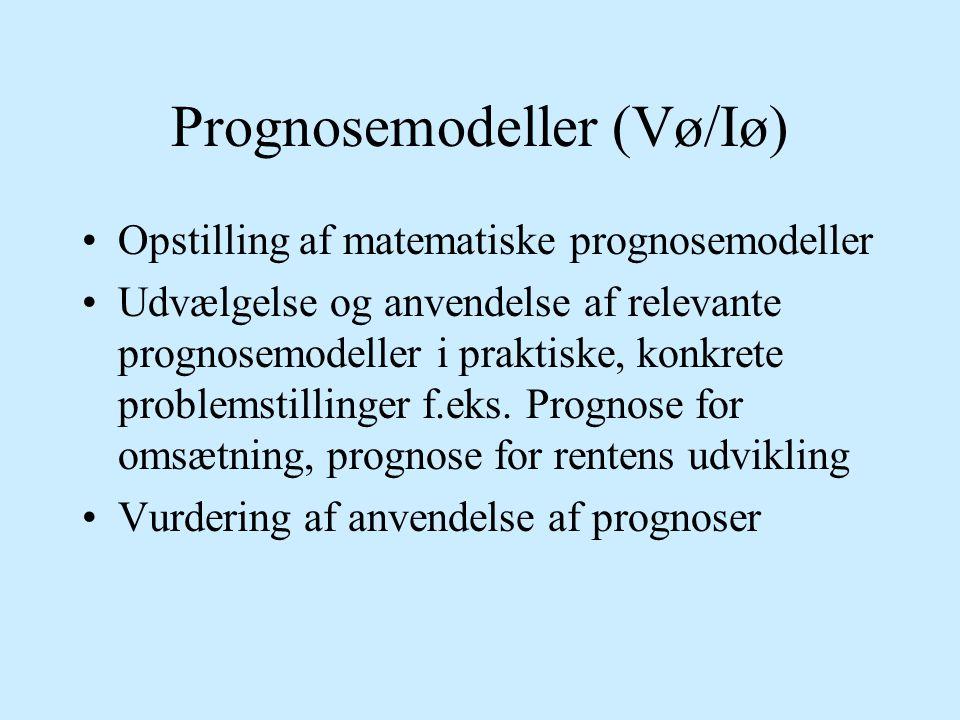 Prognosemodeller (Vø/Iø)