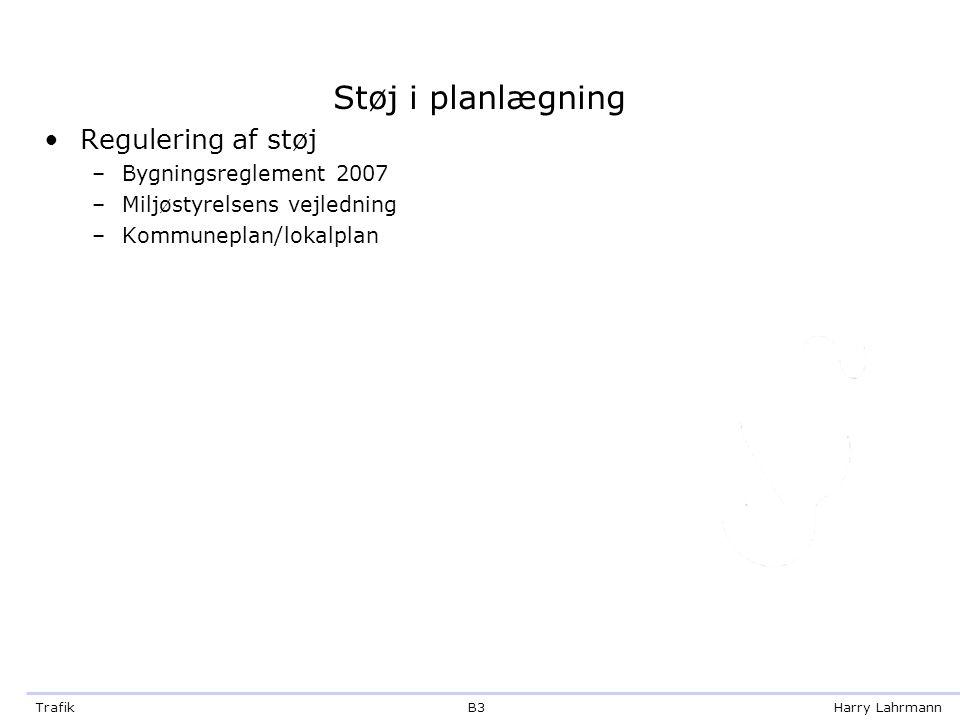 Støj i planlægning Regulering af støj Bygningsreglement 2007