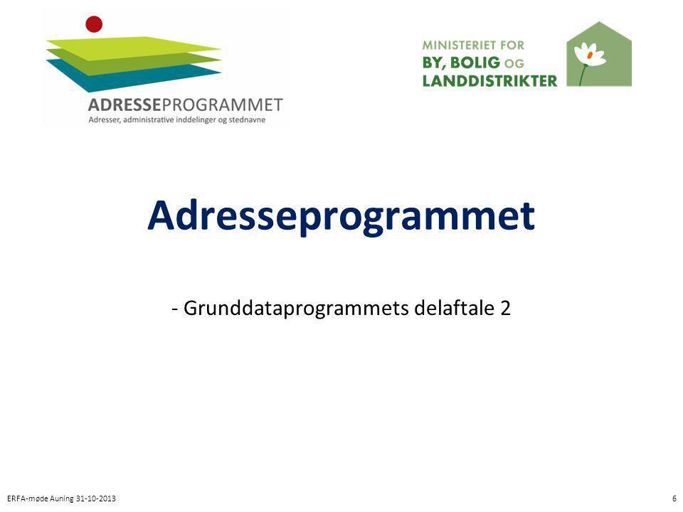 - Grunddataprogrammets delaftale 2
