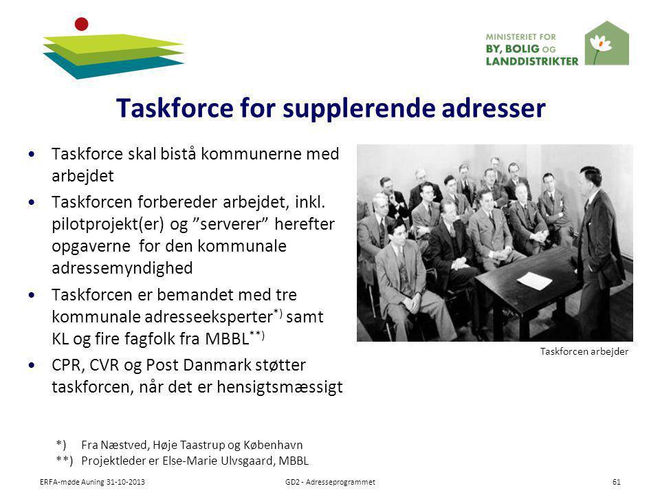 Taskforce for supplerende adresser