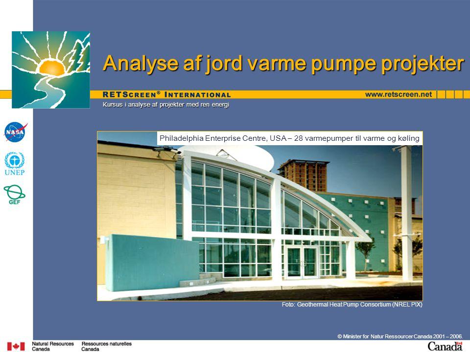 Analyse af jord varme pumpe projekter