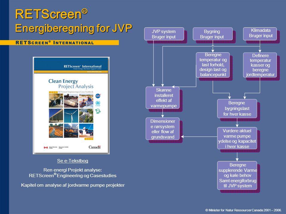 RETScreen® Energiberegning for JVP