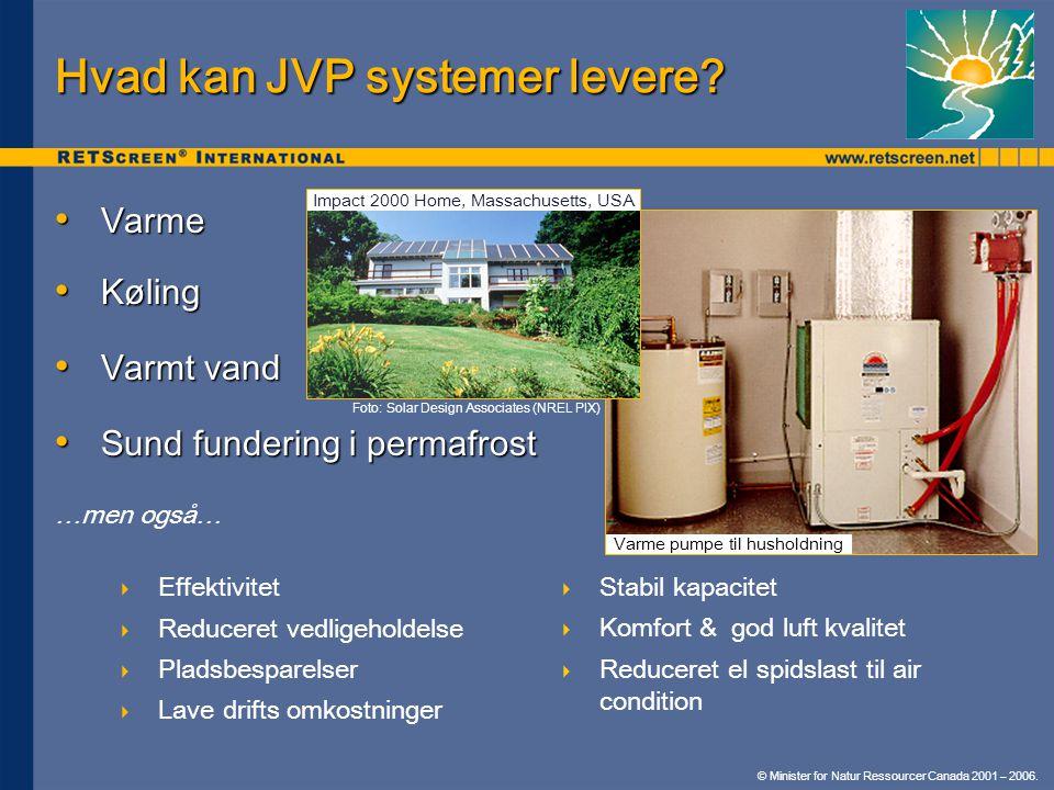 Hvad kan JVP systemer levere