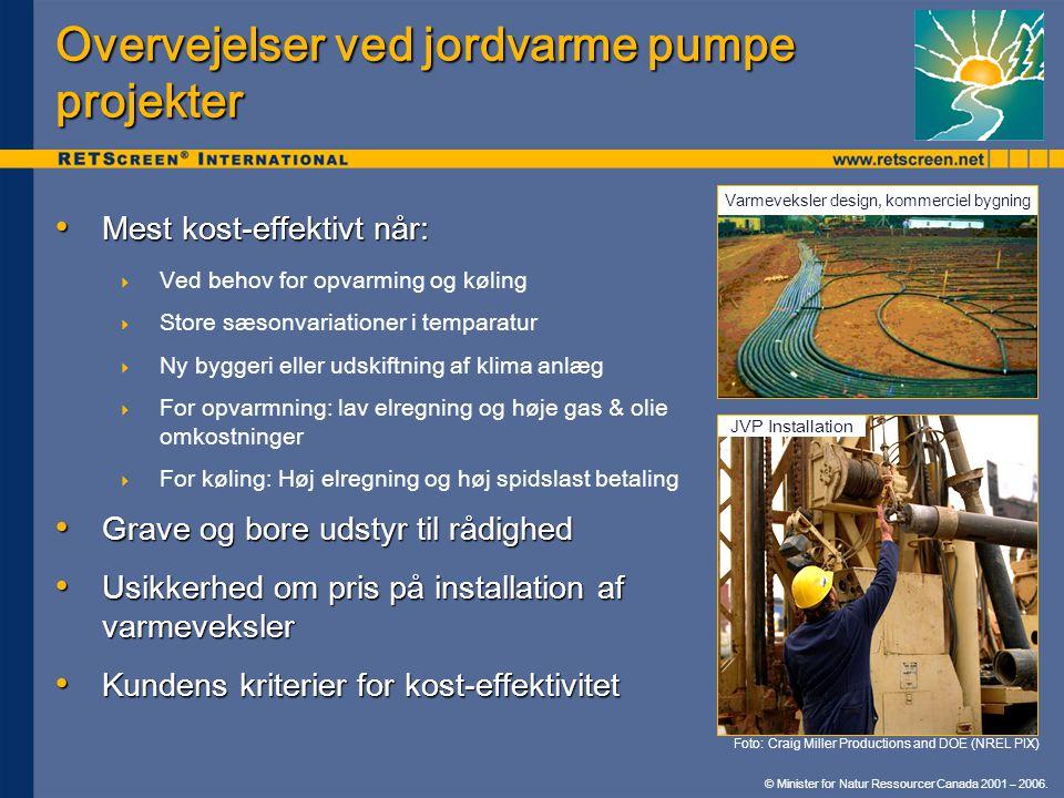 Overvejelser ved jordvarme pumpe projekter