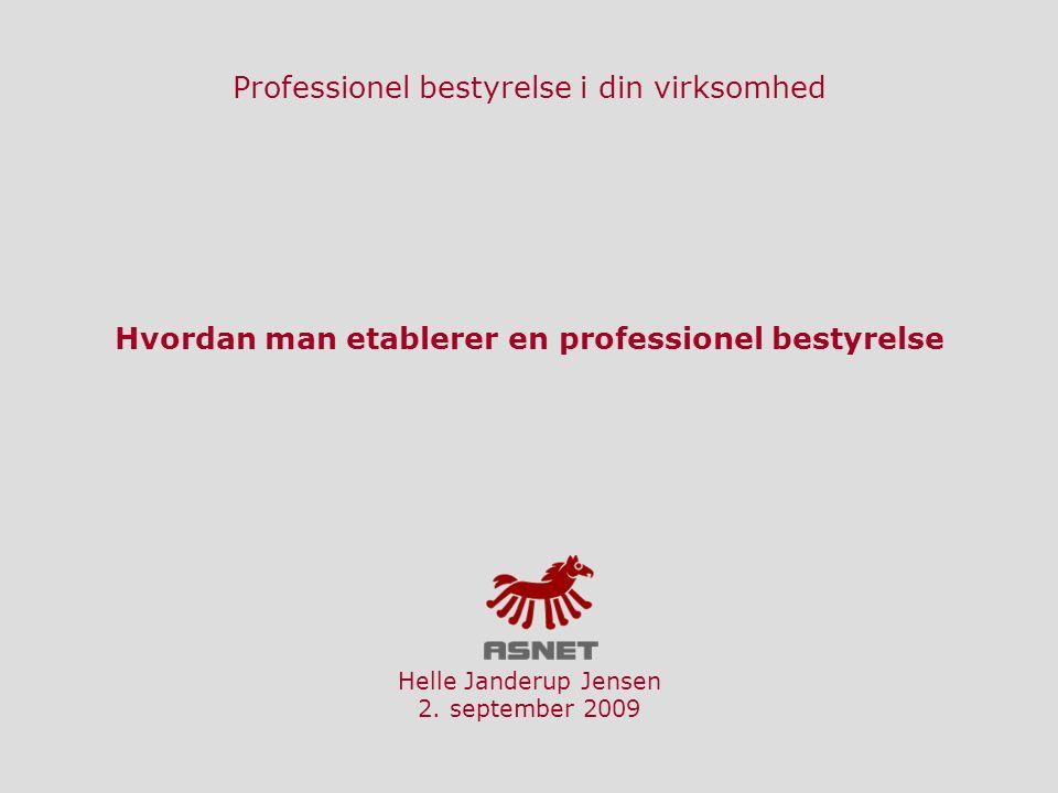 Professionel bestyrelse i din virksomhed