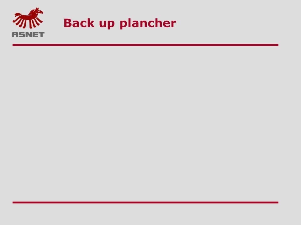 Back up plancher