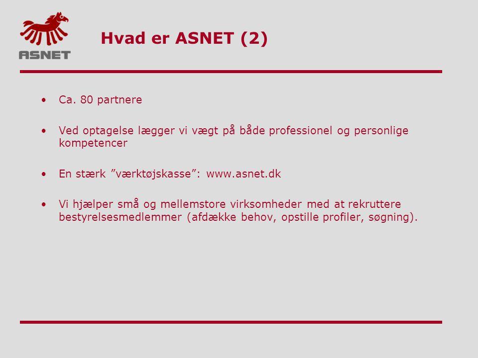 Hvad er ASNET (2) Ca. 80 partnere