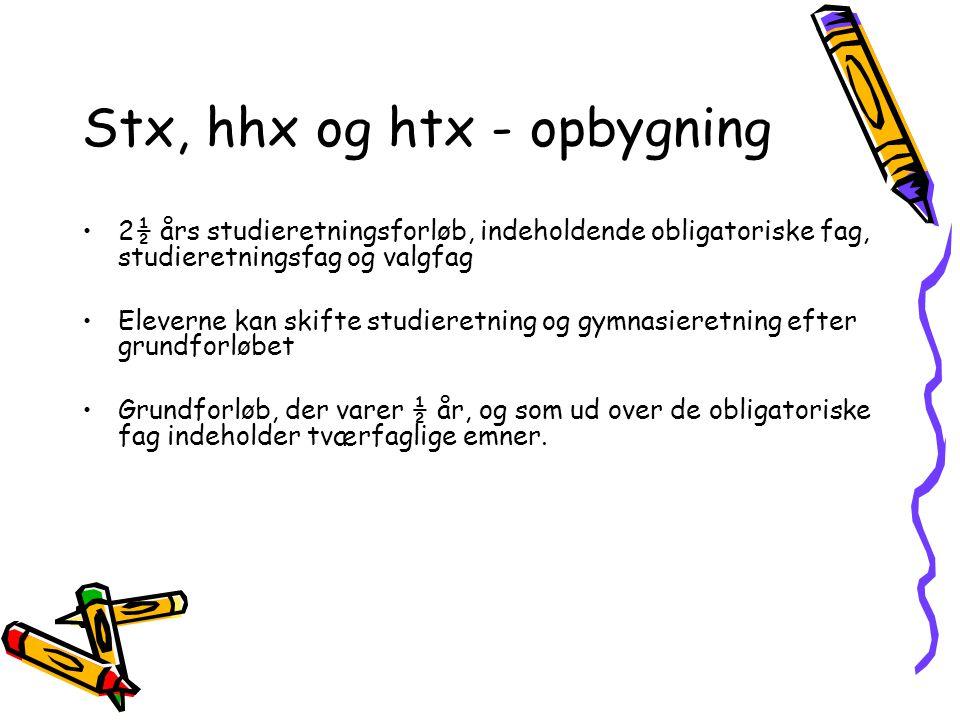 Stx, hhx og htx - opbygning
