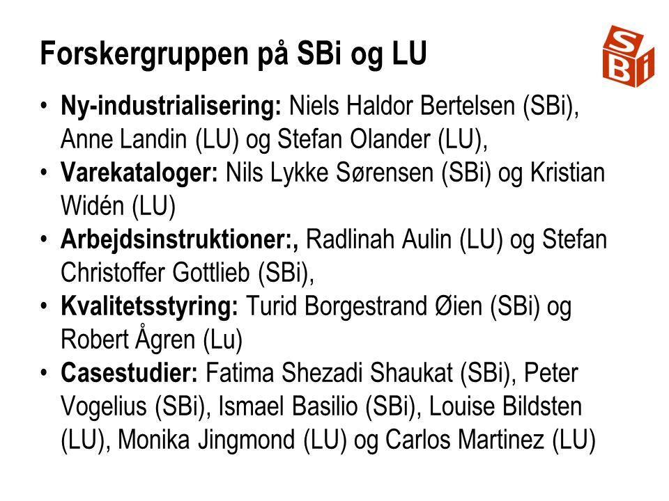 Forskergruppen på SBi og LU