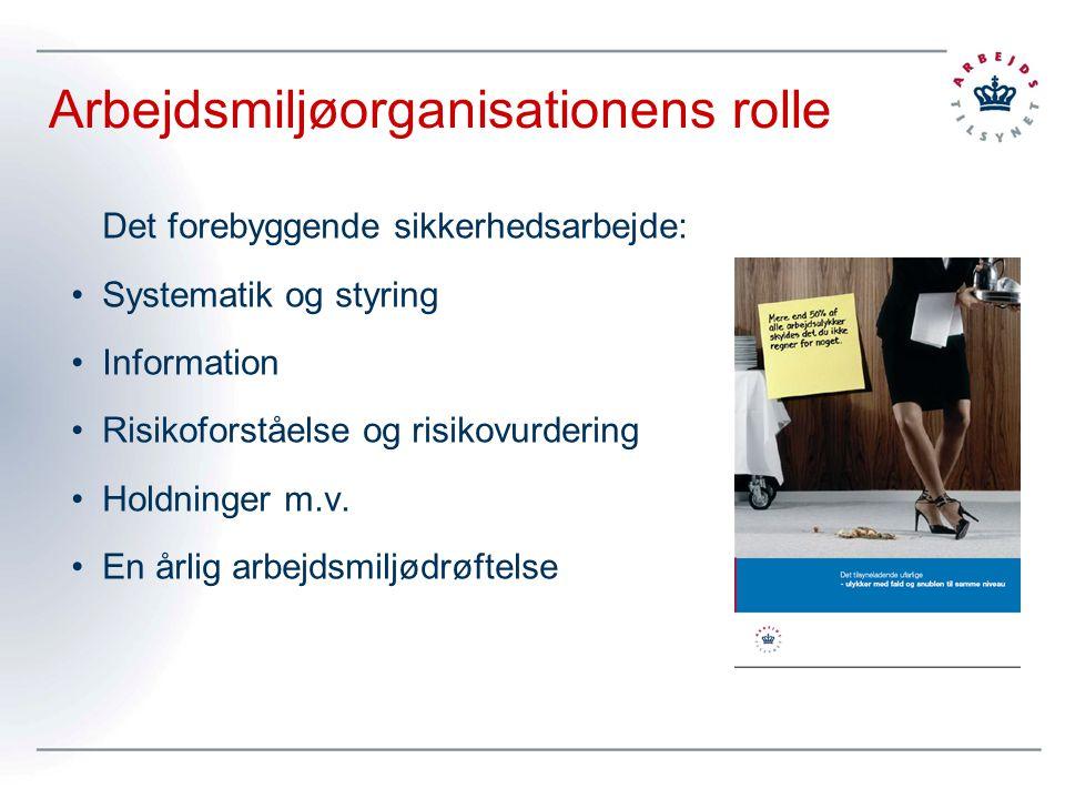 Arbejdsmiljøorganisationens rolle