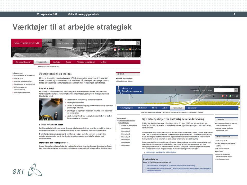 Værktøjer til at arbejde strategisk