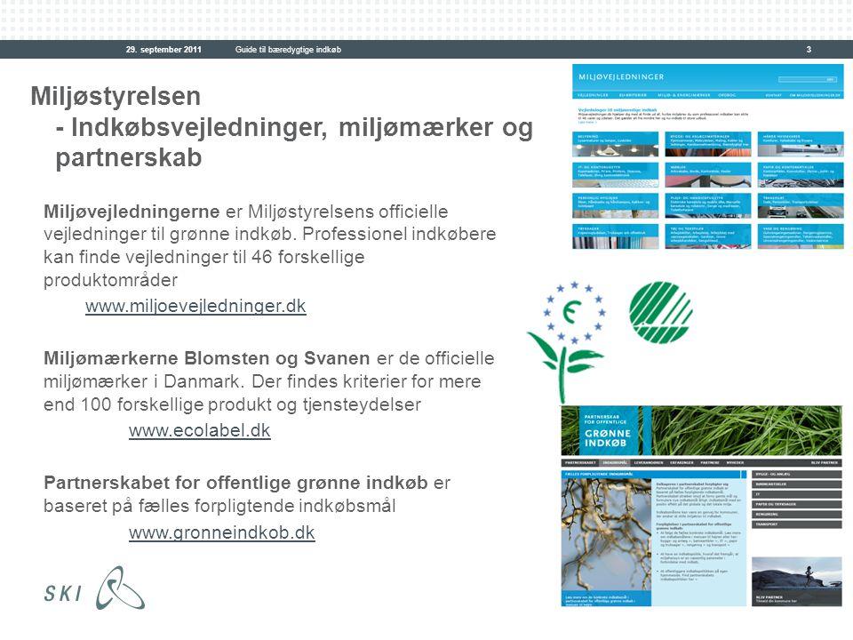 Miljøstyrelsen - Indkøbsvejledninger, miljømærker og partnerskab