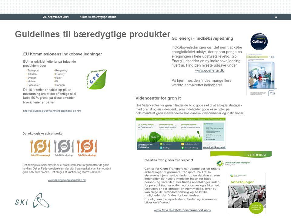 Guidelines til bæredygtige produkter