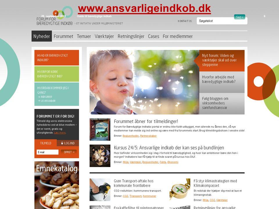 www.ansvarligeindkob.dk Siden sidst 29. september 2011
