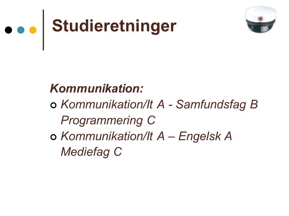 Studieretninger Kommunikation: Kommunikation/It A - Samfundsfag B