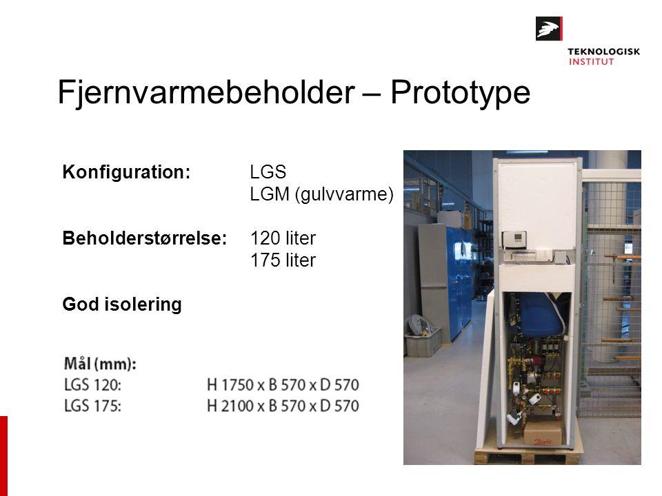 Fjernvarmebeholder – Prototype