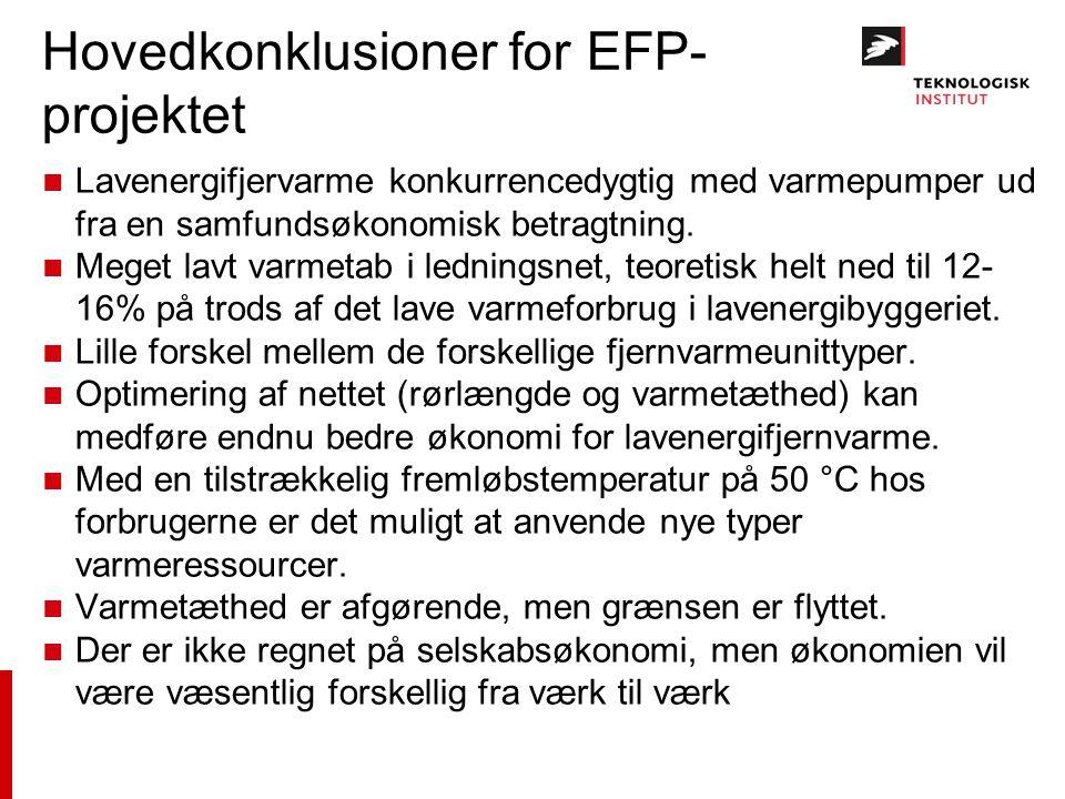 Hovedkonklusioner for EFP-projektet