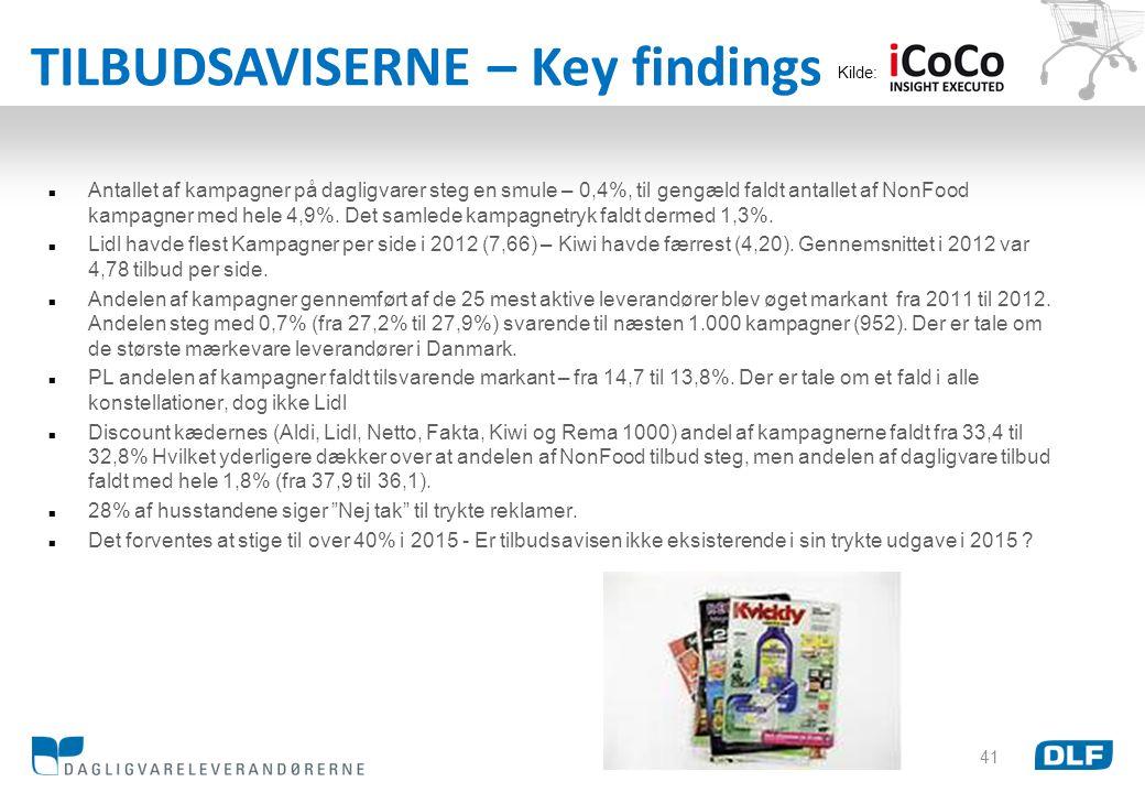 TILBUDSAVISERNE – Key findings