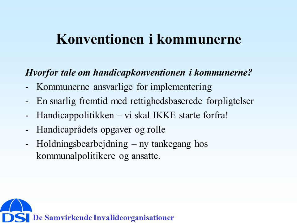 Konventionen i kommunerne
