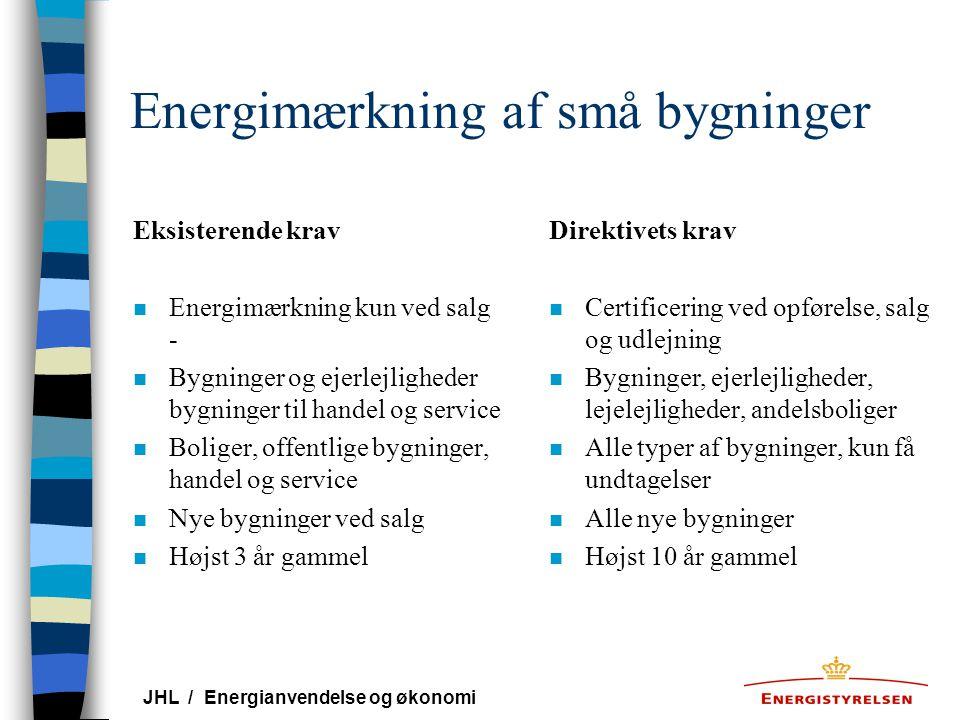 Energimærkning af små bygninger