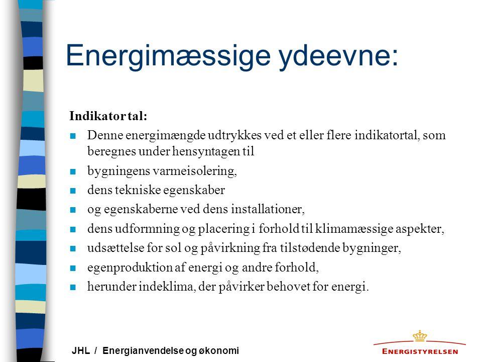 Energimæssige ydeevne: