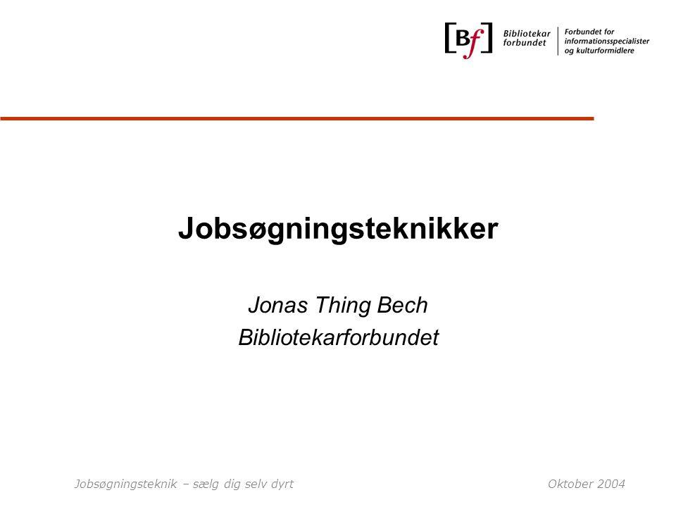 Jobsøgningsteknikker