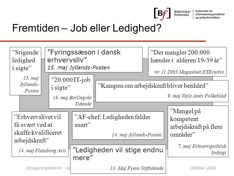Fremtiden – Job eller Ledighed