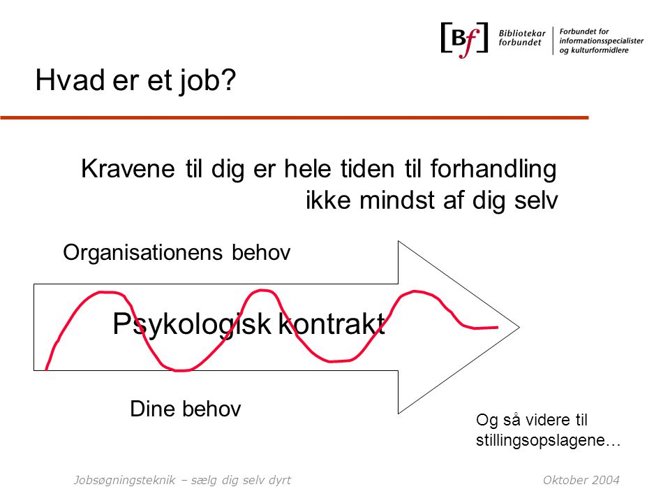 Hvad er et job Psykologisk kontrakt