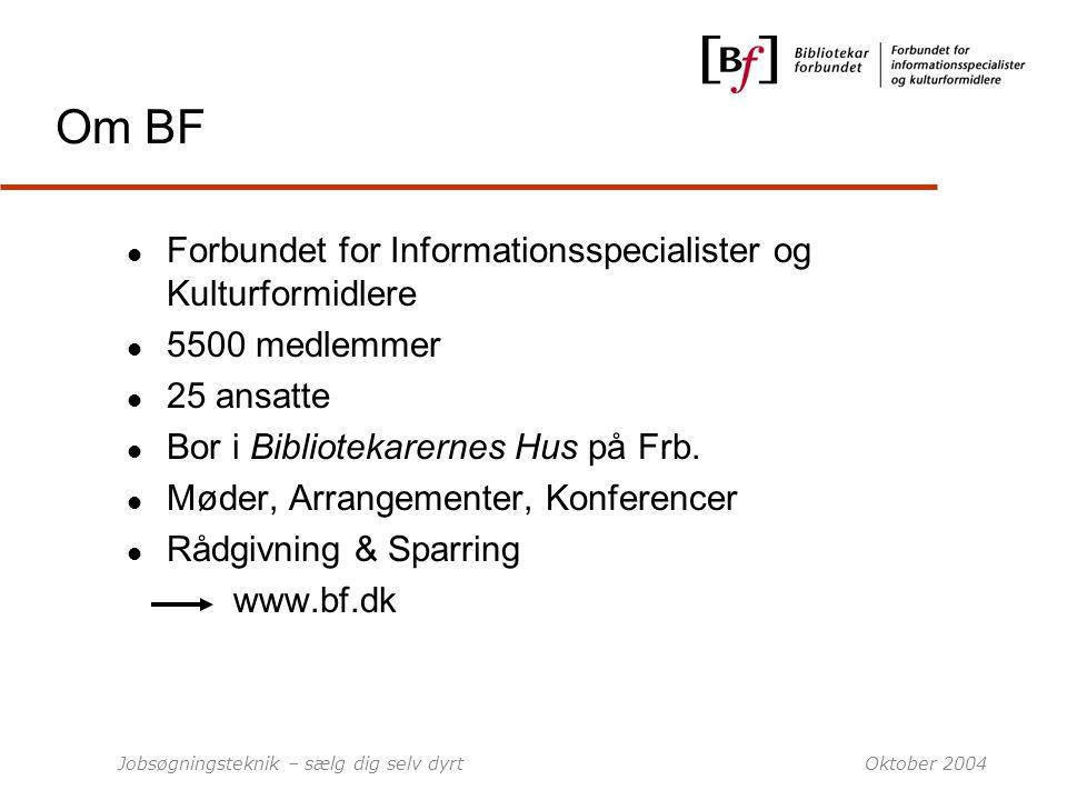 Om BF Forbundet for Informationsspecialister og Kulturformidlere